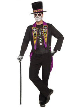 Men's Day Of The Dead Formal Costume