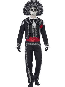 Men's Day Of The Dead Senor Bones Costum