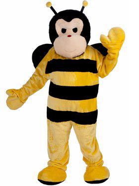 Dlx Bee Mascot Adult Costume