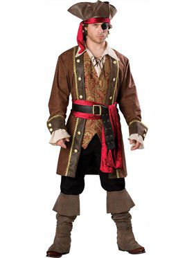 Deluxe Men's Captain Skullduggery Pirate Costume