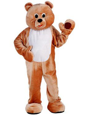 Dlx Honey Bear Mascot Adult Costume
