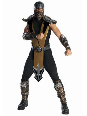 Mens Deluxe Mortal Kombat Scorpion Costu