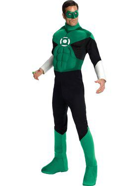 Mens Deluxe Muscle Chest Green Lantern C