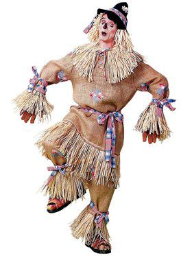 Mens Deluxe Scarecrow Adult Costume