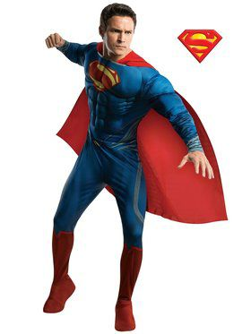 Mens Deluxe Superman Man Of Steel Costum