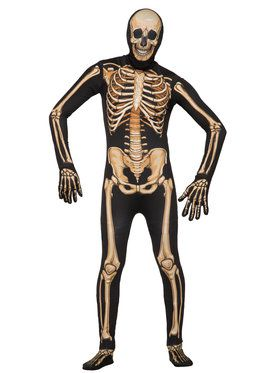 Mens Disappearing Man Deluxe Skeleton Costume