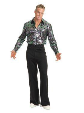 Men's Disco Pants - Black