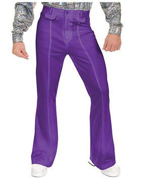 Men's Disco Pants - Purple