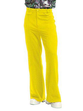 Men's Disco Pants - Yellow