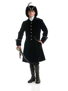 Men's Distinguished Pirate Jacket Costum