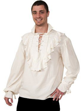 Men's Ecru Adult Pirate Shirt