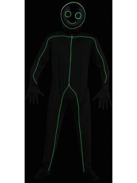 EL LU Stick Figure Mens Costume