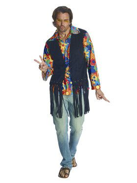 Mens Flower Power Hippie Costume