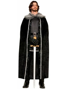 Men's Fur Trimmed Cape
