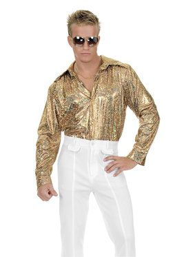 Mens Glitter Disco Shirt