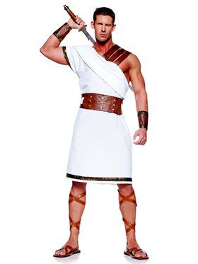 Mens Greek Warrior Adult Plus Costume