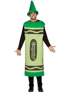 Mens Green Crayola Crayon Costume