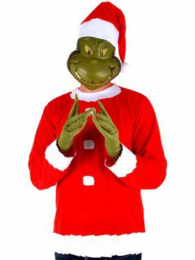 Mens Grinch Costume Kit