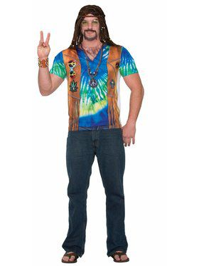 Hippie Man Costume for Adults