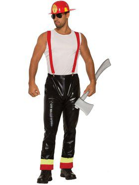 Mens Hunky Hero Fireman Costume