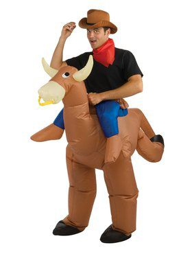 Mens Inflatable Bull Rider Costume