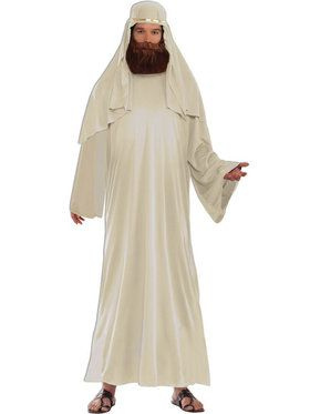 Mens Ivory Biblical Robe With Headdress