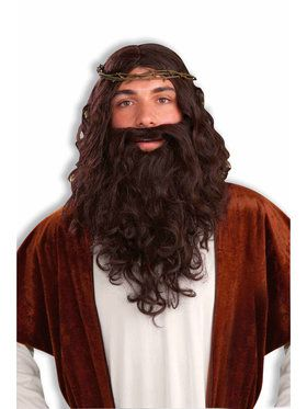 Men's Jesus Easter Wig and Beard Set