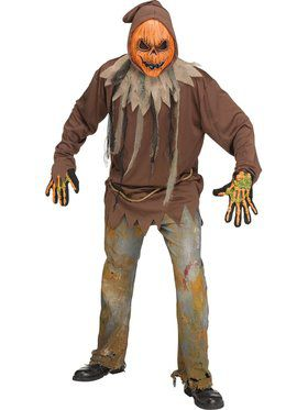 Mens Light Up E.L. Pumpkin Costume
