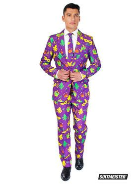 Mens Mardi Gras Icons Opposuit
