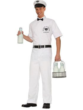 Men's Milkman Costume