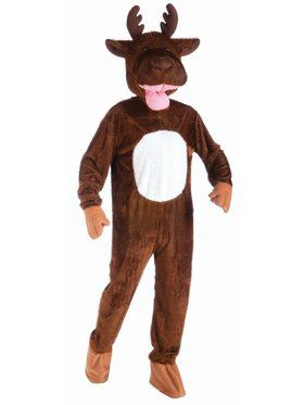 Co-Mascot-Plush Moose Adult Costume
