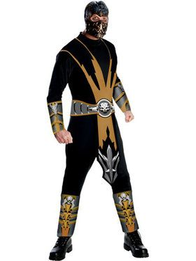 Mens Mortal Kombat Scorpion Adult Costu
