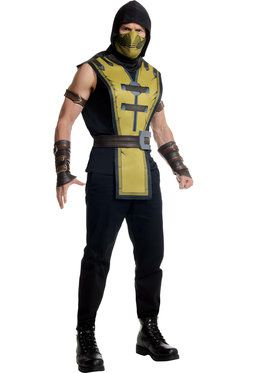 Men's Mortal Kombat Scorpion Adult Costu