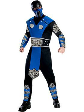 Mens Mortal Kombat Sub-zero Adult Costu