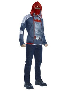 Men's Muscle Chest Red Hood Costume