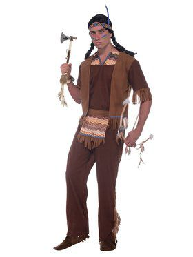Mens Native American Brave Costume