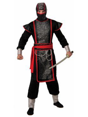 Mens Ninja Master With Hood Costume