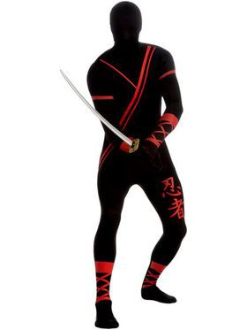 Mens Ninja Skin Suit Adult Costume