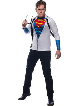 Mens Photo Real Superman Costume Top