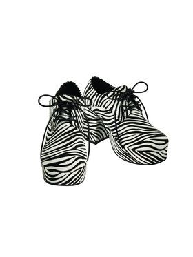 Zebra Pimp Platform Mens Shoes