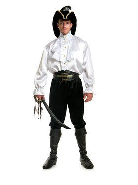 Men's Pirate Captain Shirt - White