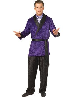 Adult Playboy Smoking Jacket for Men