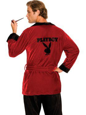 Playboy Mens Smoking Jacket Adult Costume