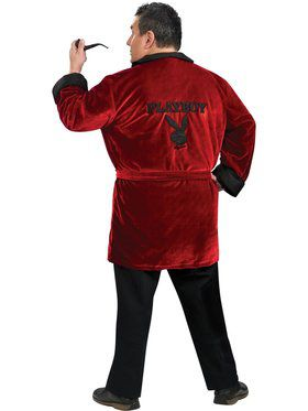 Mens Playboy Smoking Jacket Plus Adult Costume