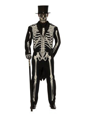 Men's Plus Size Bone Chillin Costume
