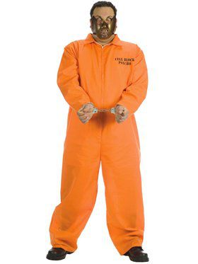 Mens Plus Size Cell Block Psycho Costume