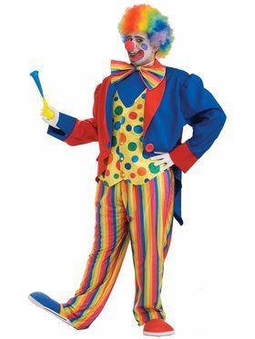 Mens Plus Size Clown Costume