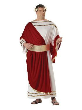 Mens Plus Size Julius Caesar Costume