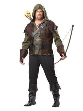 Mens Plus Size Robin Hood Costume