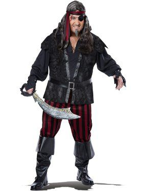 Plus Size Mens Ruthless Rogue Pirate Costume